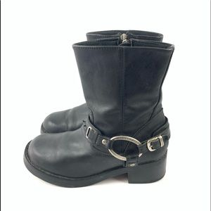 Harley Davidson Christa black leather boots 8